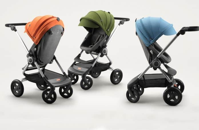 Some of the Stokke strollers covered in this Stokke stroller review