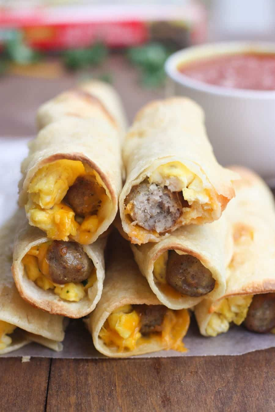 Egg and Sausage Breakfast Taquitos | Tastes Better From Scratch