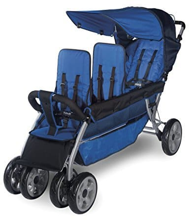 Foundations worldwide Blue 3 passenger stroller