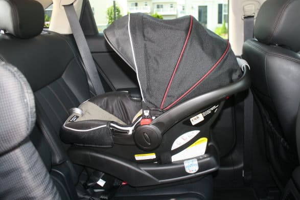 Graco Aire3 ClickConnect Travel System in car seat mode