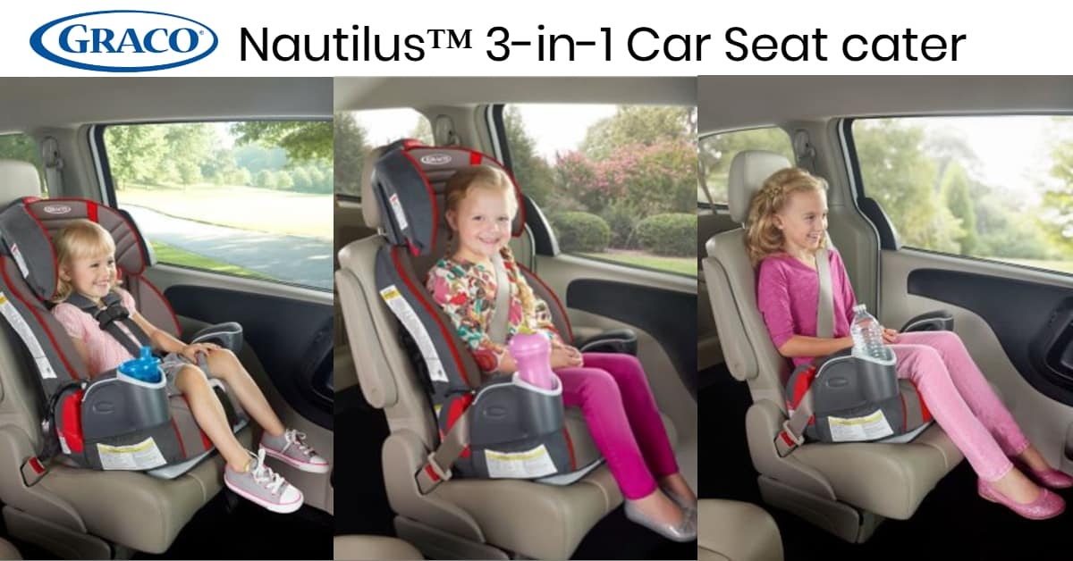 Nautilus car seat can cater from toddler to young kids
