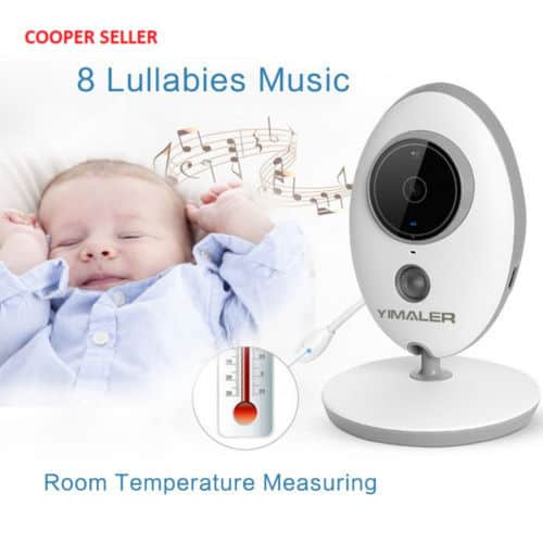 This baby monitor offers other helpful features such as built-in lullabies and room temperature monitoring.