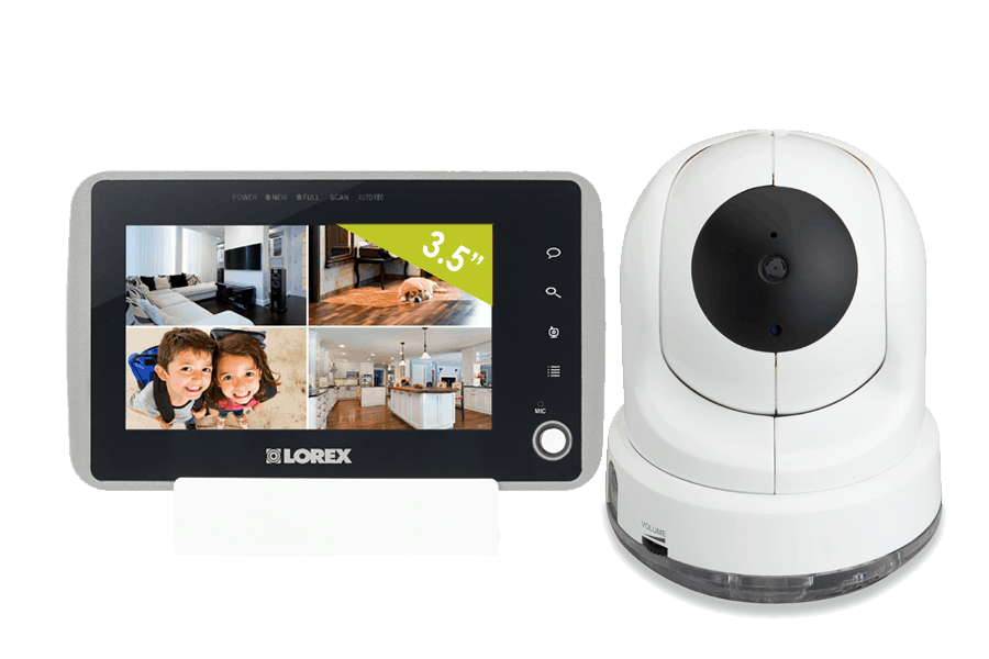 Some baby monitors let you view up to four different camera views on a single device.