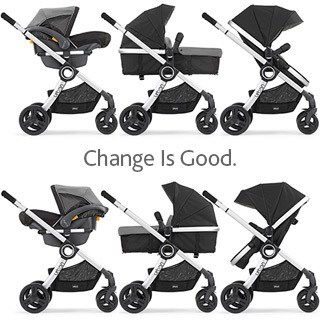 The design can convert to 6 different positions to accommodate your growing baby.