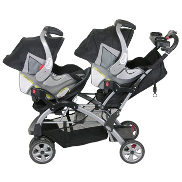 Can accommodate two infant car seats for when your babies are younger.