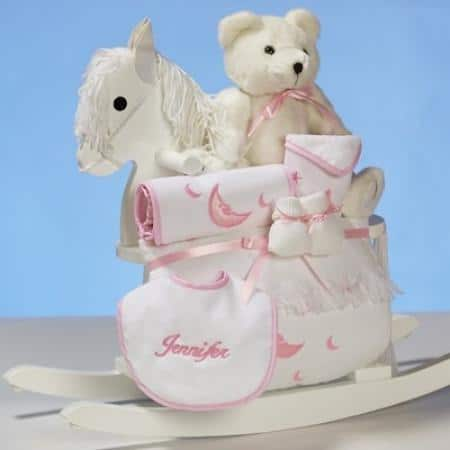 The personalized rocking horse gift set is a wonderful gift.