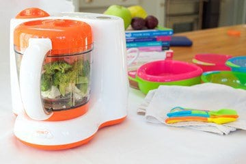 The Vital Baby 2 in 1 Steam and blend gives an ideal Cooking time With a baby.