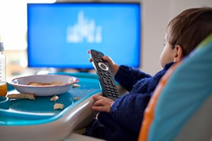 Designate mealtime as a TV-free, interactive activity