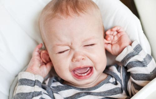 Excessive ear pulling and crying can be a sign of an ear infection