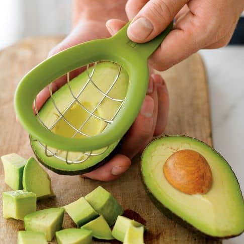 Ripe avocados are soft enough for your baby to chew.