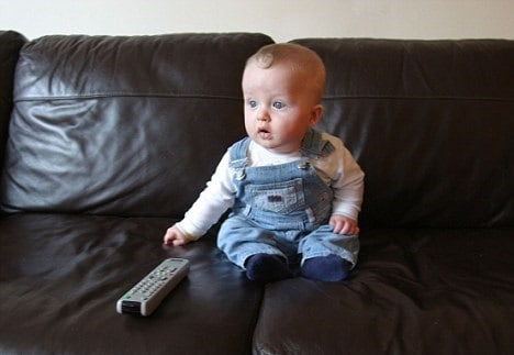TV is just plain shocking to young babies