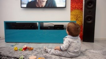 If given a choice between TV and toys, a baby will likely choose TV