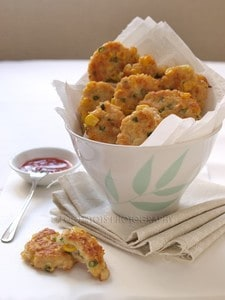Chicken and corn patties
