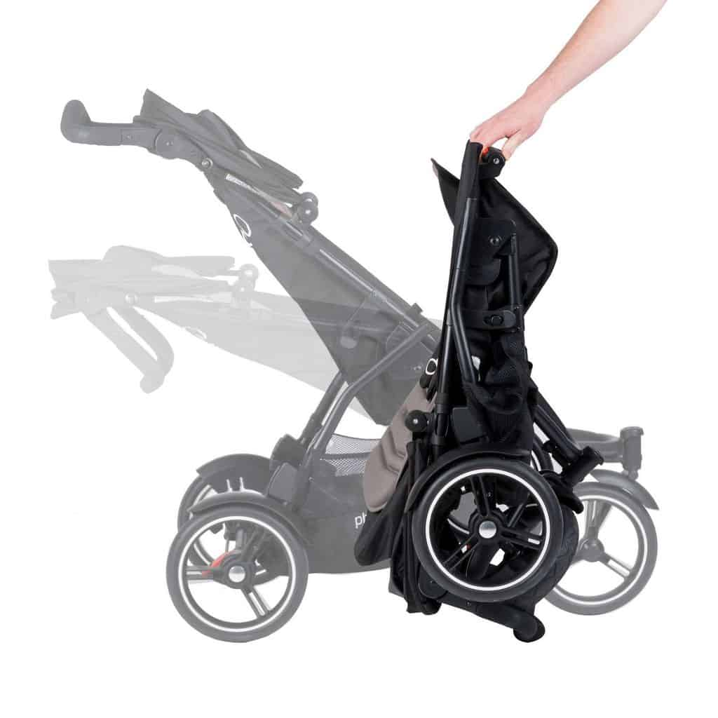 Ideally, a good hiking stroller should fold with one hand and be easy to carry (Source: Walmart)