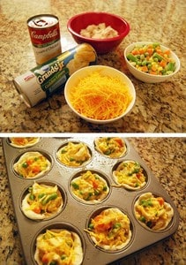 ​Chicken pot pie cupcakes