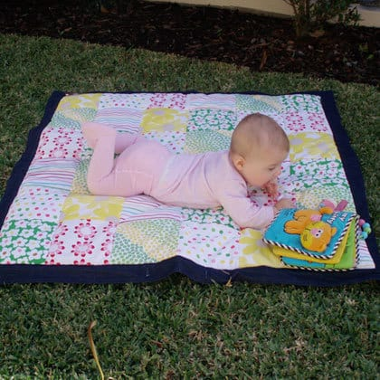 Your baby is likely to put some art of the mat in their mouth (Source: gogo&co)