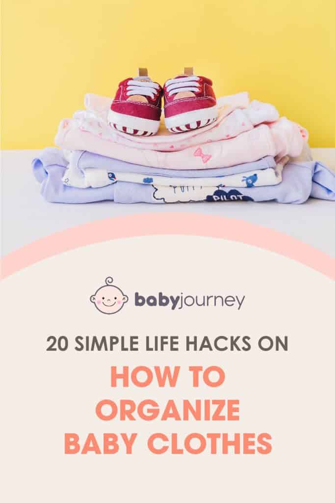how to organize baby clothes
